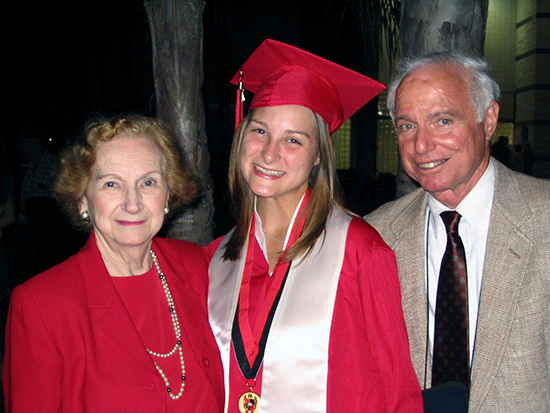 Larry Waterman pictured with his wife Joan and granddaughter Lauren.