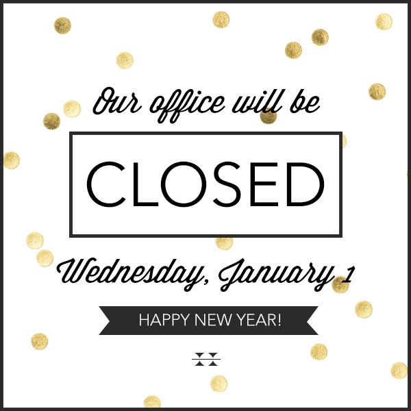 Office closed January 1 | Holbrook Travel